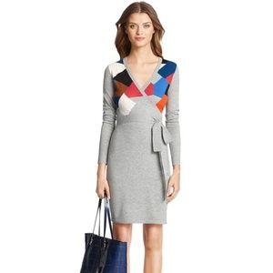 Diane Von Furstenberg leandra wrap sweater dress